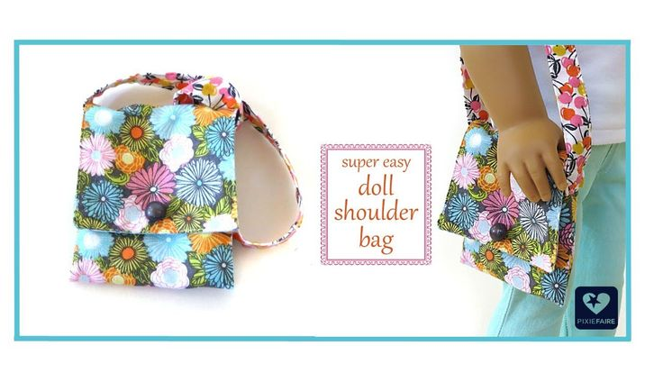How To Make A Doll Shoulder Bag FREE Tutorial - For American Girl Dolls video