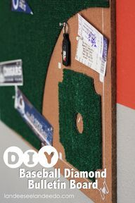 K Welch DIY Baseball Diamond Bulletin Board Would Do A Football Field Same Concept