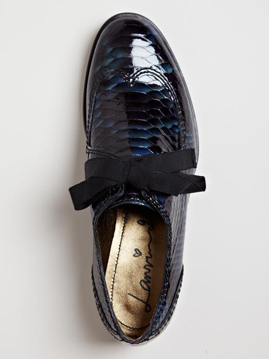 Lanvin Women's Imitation Reptile Print Derby Shoe
