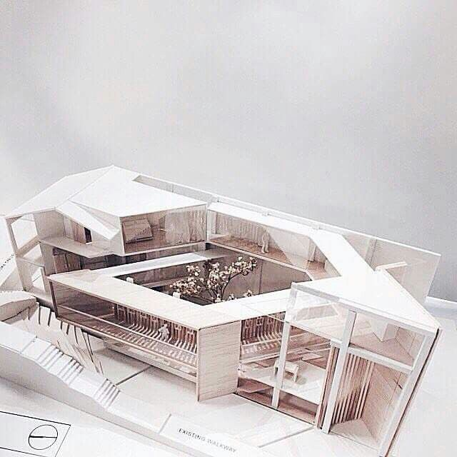 House model interior arch pinterest maquetas for Architecture 54