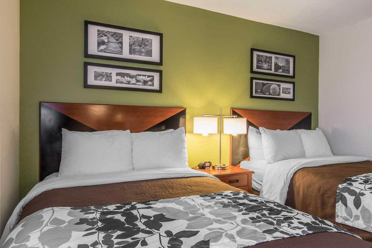 Every room at the Sleep Inn South hotel in Baton Rouge is a simply stylish sanctuary designed for a happy night's sleep
