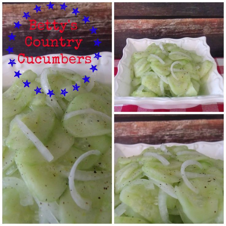 bettys cucumbers collage