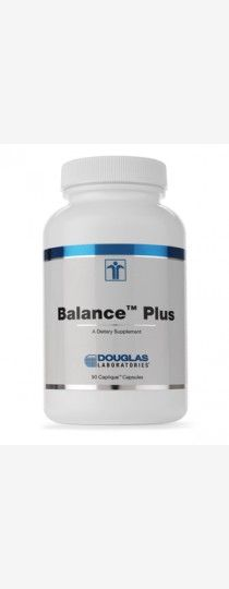 Balance Plus by Douglas Laboratories - is a combination of nutritionally important, synergistically acting fatty acids: the omega - 3 fatty acids from cold water marine fish (eicosapentaenoic acid, EPA; and docosahexaenoic acid, DHA), the omega- 6 gamma- linolenic acid (GLA) from evening primrose oil, and the omega- 9 oleic acid from olive oil. Balance Plus is now offered as a liquid- filled, two piece capsule.