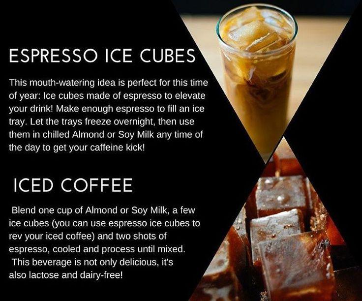 Espresso ice cubes/Iced coffee