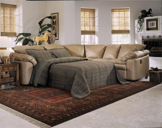 Sectional Sofa With Pull Out Bed And Recliner Https Www Otoseriilan Com In 2020 Sectional Sleeper Sofa Sofas For Small Spaces Reclining Sofa