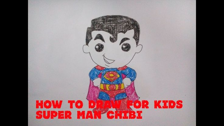 How to draw Superman opt5 - How to draw for kids