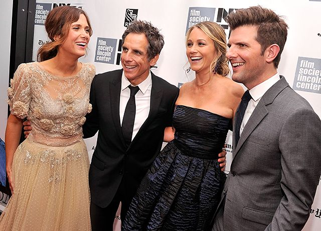 Kristen Wiig, Ben Stiller, Christine Taylor and Adam Scott all laughed and smiled while on the red carpet together while attending the Centerpiece Gala Presentation for their film The Secret Life of Walter Mitty at the New York Film Festival.