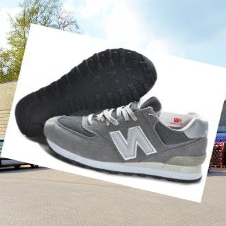 New Balance 574 men's Trainers Grey HOT SALE! HOT PRICE!
