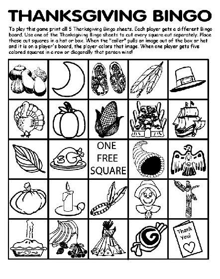 Best 20 Thanksgiving bingo ideas