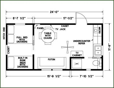 12 x 24 cabin floor plans google search cabin coolness for Lodge plans with 12 bedrooms