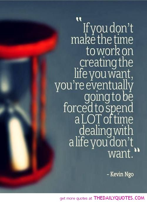 What life do you want? Sounds like decision time is on somebody's heels....knock, knock, knock.