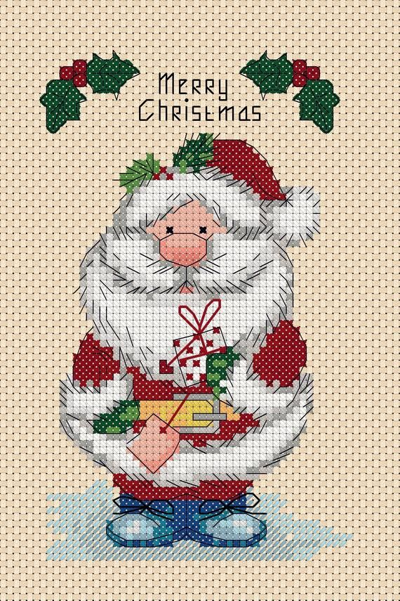 Christmas Car Cross Stitch Christmas Stocking Cross Stitch Pattern Instant Download PDF