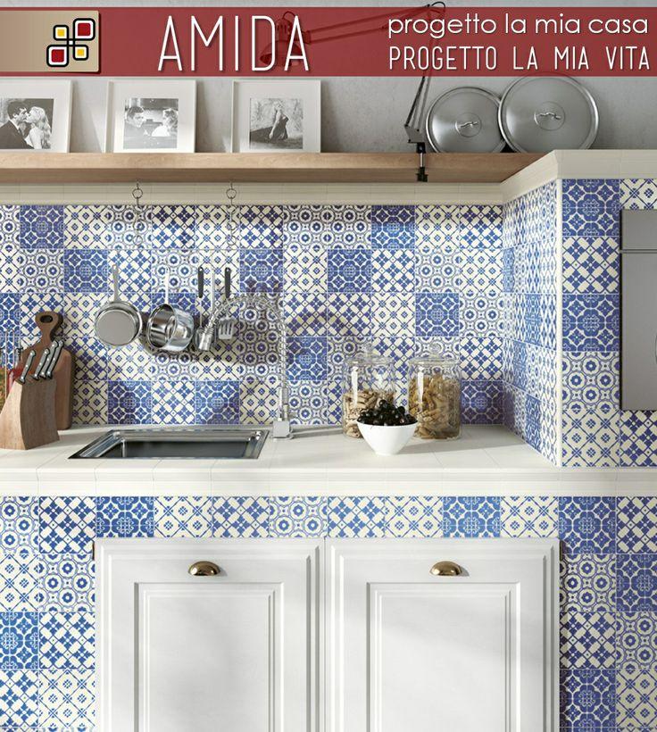 Rivestimento decorato Dolce Vita in gres porcellanato  per cucine in muratura