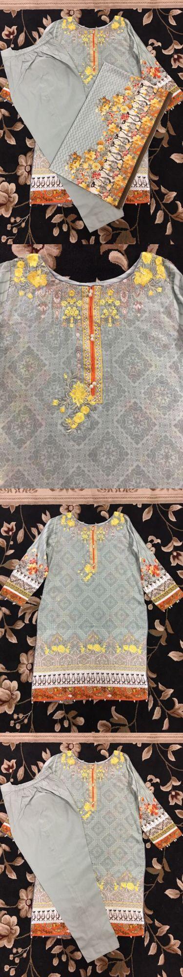 Salwar Kameez 155249: New Pakistani Designer Bin Saeed Sana Safinaz Shalwar Kameez S M -> BUY IT NOW ONLY: $55 on eBay!
