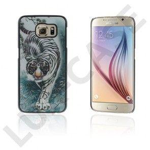 Persson Samsung Galaxy S6 Hårt Skal - Våldsam Tiger