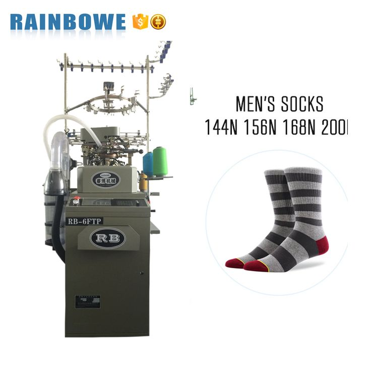 3.75 inch terry and plain RB-6FTP sock knitting machine for sale