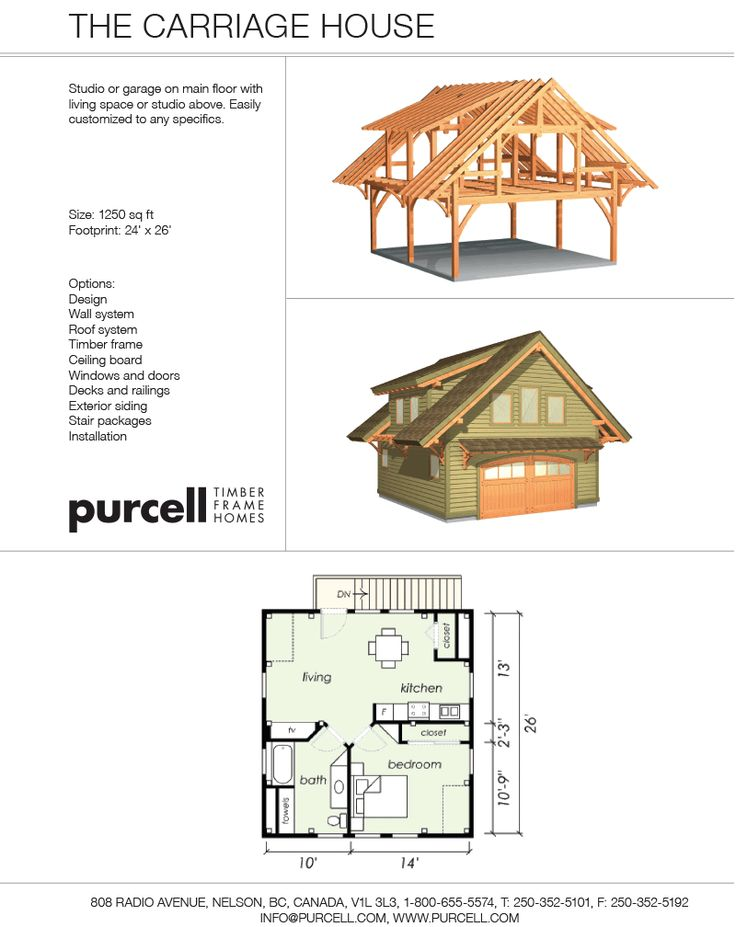 Purcell Timber Frames The Carriage House 624 Square