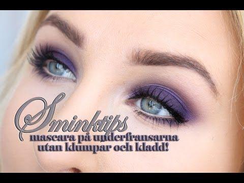 SMINKTIPS - Mascara på underfransarna utan klumpar, av hiilen - YouTube