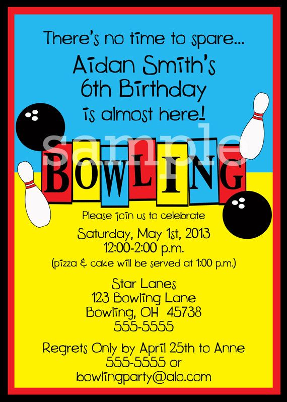 Best 25 Bowling party invitations ideas – Kids Bowling Party Invitations