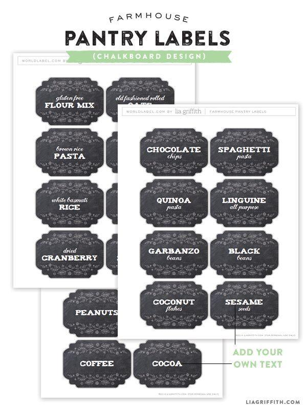 24 best chalkboard labels and templates diy also images on pinterest chalkboard labels tags for Chalkboard labels printable