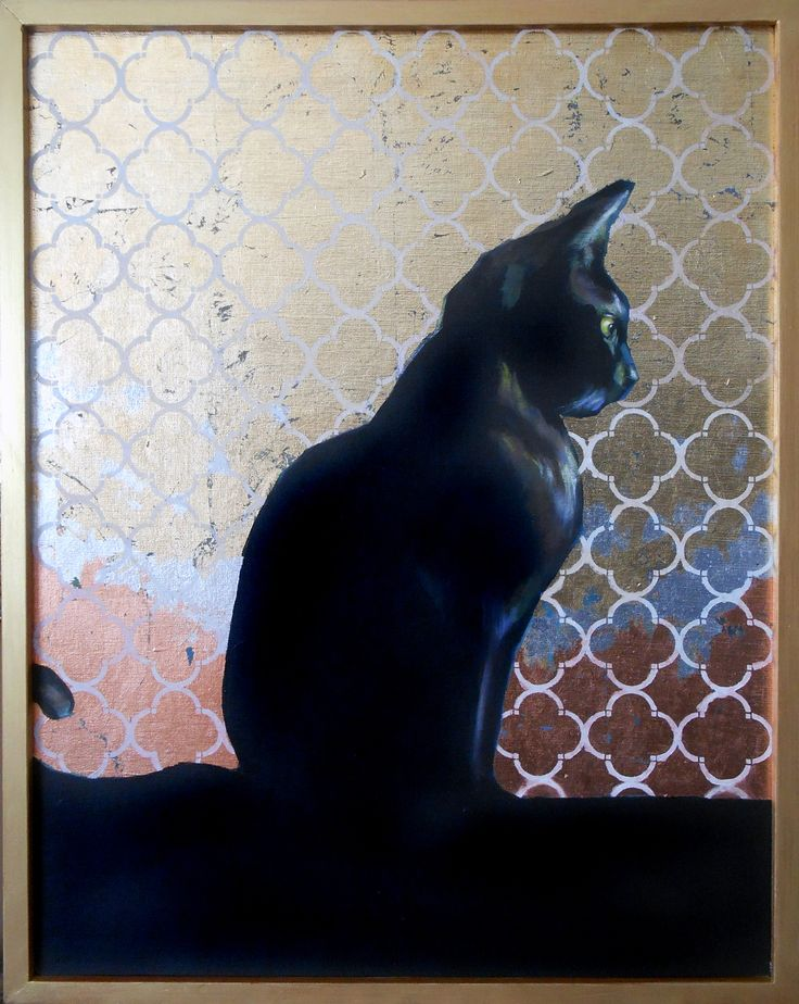 """Luna"" 24"" x 28"" Original Art Acrylic & gold foil - atelierbaba on etsy"
