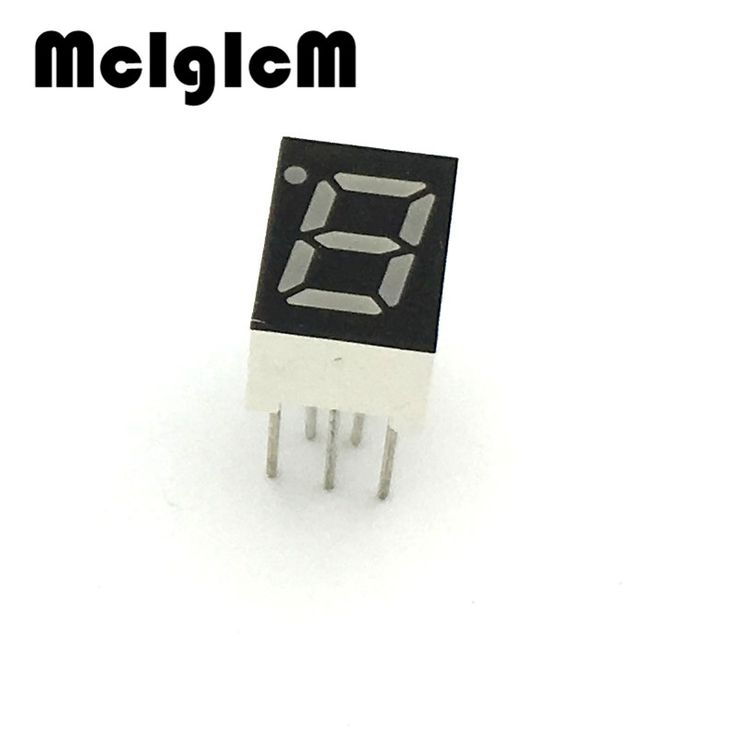 """G131-04 10pcs 7 segment common Cathode 1 Bit digital Tube 0.28"""" 0.28in. Red LED Display 7 segmentos LED Digital tube #Affiliate"""
