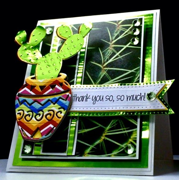 Image result for cards made using Frantic Stamper Native pot & prickly pear cactus