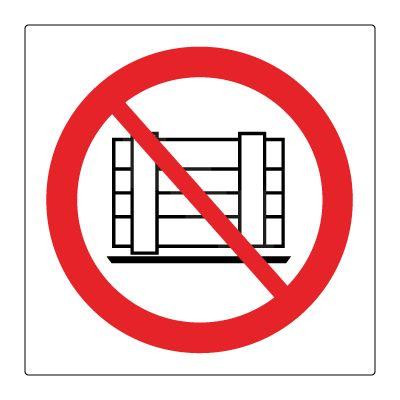 Plassering av gods forbudt med gulvlaminat - Kjøp Forbudsskilt her