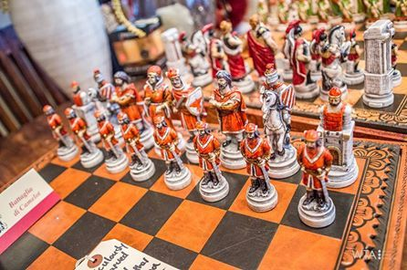 Handcarved Italian chess set!