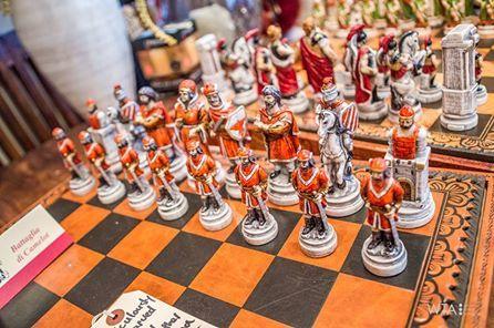Handcarved Italian chess set!