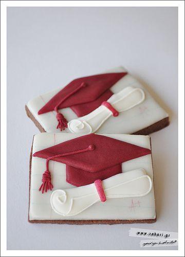 Μπισκότα αποφοίτησης. Graduation cookies.