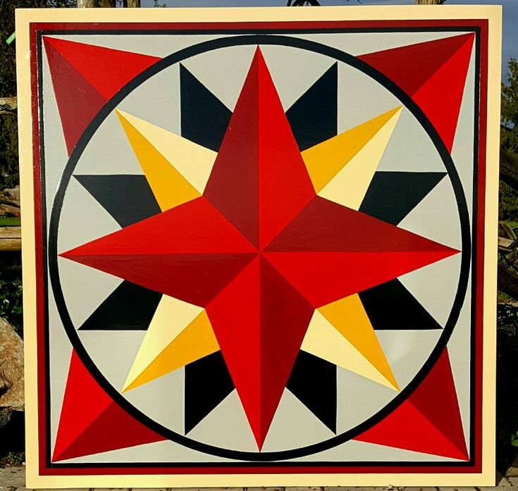 4'×4' Compass by Gardiner's Gate Barn Quilts