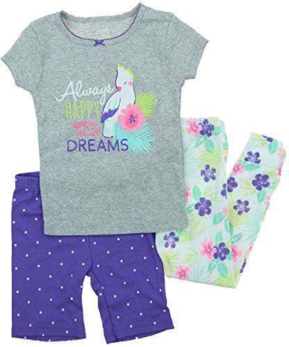 105d70e0fd Little Girls 3 Piece Cotton Pajama Sleepwear Set