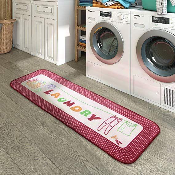 Lifewit Vintage Laundry Room Runner Rug Kitchen Floor Mat Decor