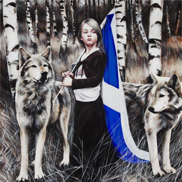 Gerard Burns Pilgrims Signed Limited Edition Print | Scottish Contemporary Art