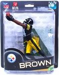 Name: Antonio Brown (Pittsburgh Steelers) Manufacturer: McFarlane Toys Series: McFarlane Toys NFL Sports Picks Football Series 32 Action Figures Release Date: July 2013 For ages: 4 and up UPC: 787926756234 Details (Description): McFarlane Toys NFL Series 32 offers up a wide mix of NFL superstar favorites, and some new faces never before seen in the SportsPicks universe!