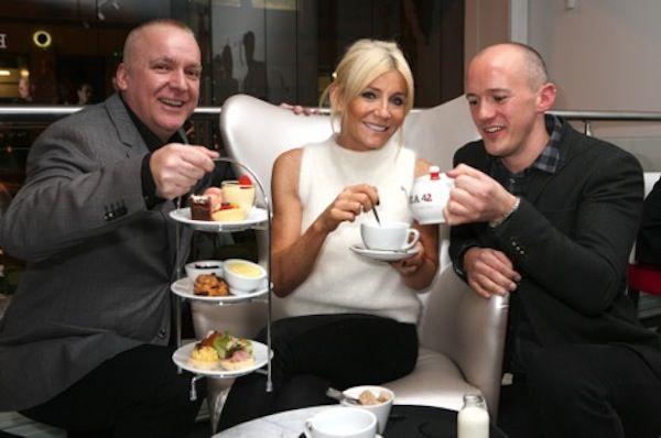 Launch of Tea 42: L-R Tea 42's Will Hannah, Michelle Collins and Tea 42's Jason Abbott via @LadyEDJ