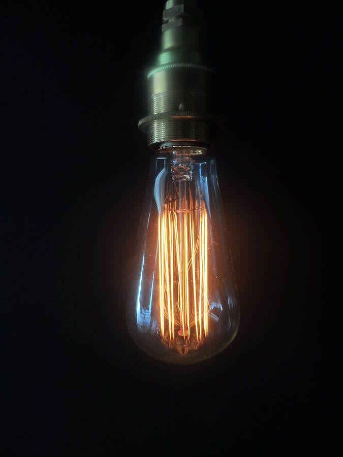 vintage small edison lightbulb by tony miles designs | notonthehighstreet.com
