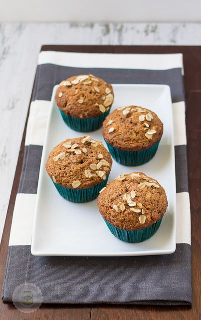 Super Moist and Healthy Carrot Cake Muffins 4 on a Tray by littlespicejar, via Flickr