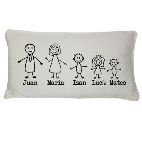 regalos originales cojines de familia una idea divertida y diferente de regalo para toda la