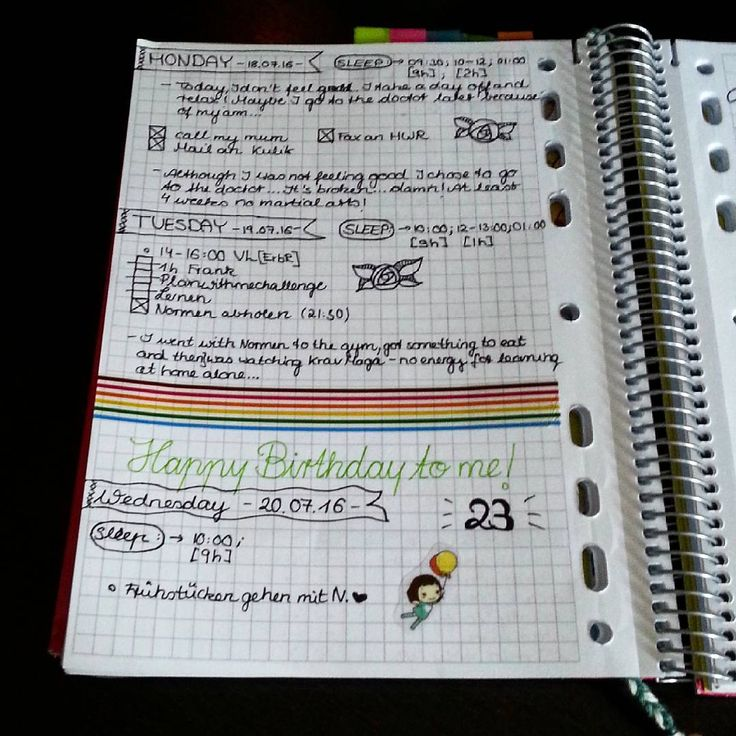 #planwithmechallenge day nr.20: #journaling :) i was sick the last days and also have a broken arm (radial head fracture) so I didn't got much done. But today is m birthday and that means lots of time for journaling <3 #planningahead #planneraddict #bujojunkies #journaling #birthday