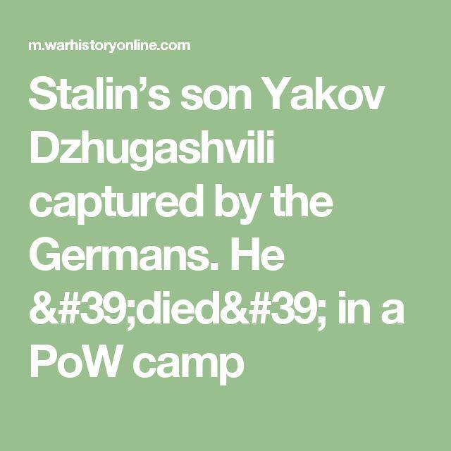 Stalin's son Yakov Dzhugashvili captured by the Germans. He 'died' in a PoW camp