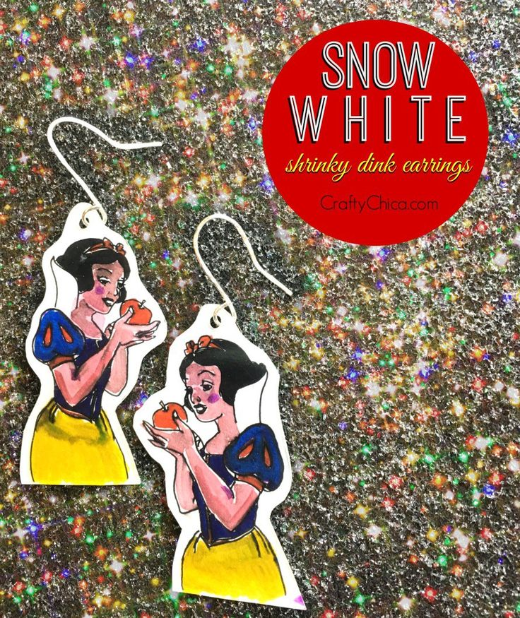I made these Snow White earrings this week in honor of theBlu-ray DVD release of the film. It comes out today! I even have TWO copies to gift. All you have to do is watch myvideo, and leave a comment either here or on the YouTube video page for this project letting me know and I