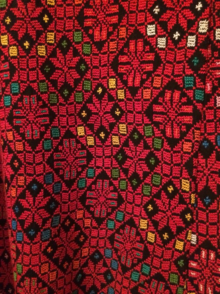 Close up of my Palestinian dress embroidery