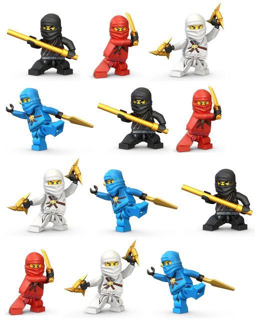 Imprimibles Ninjago.