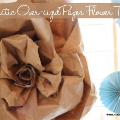 Oversized Rustic Paper Flower Tutorial