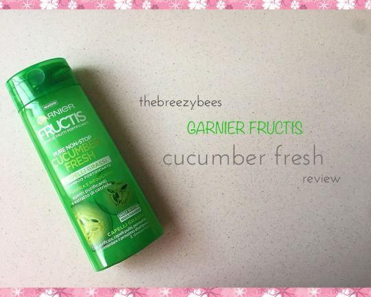 """Recesione shampoo Garnier """"Cucumber Fresh""""."""