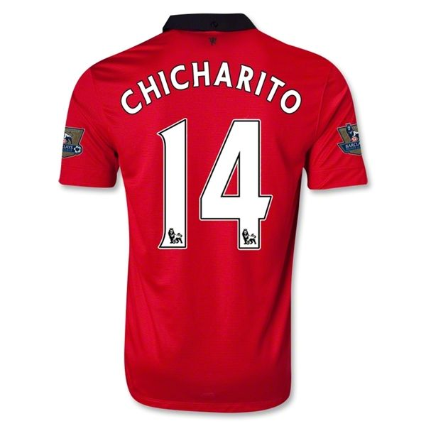 13-14 Manchester United #14 CHICHARITO Home Jersey Shirt