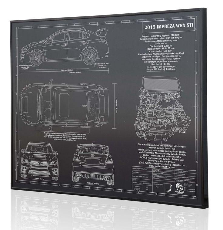 Subaru Impreza 2015 WRX STI Laser Engraved Wall Art Poster. Engraved on Metal, Acrylic or Wood. Custom car Art, Poster, Sign. Auto Gift by EngraveColorado on Etsy https://www.etsy.com/listing/449692816/subaru-impreza-2015-wrx-sti-laser