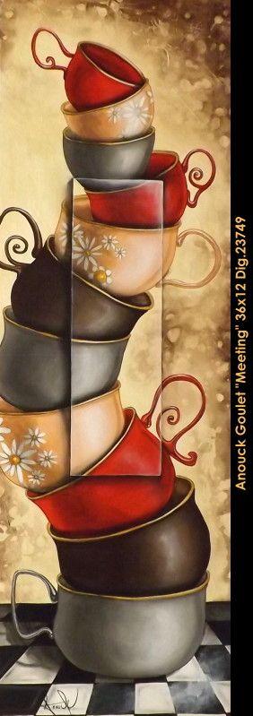 Stacked Mugs #art #paintparty #canvasart #paintnight #acrylic